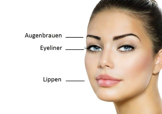 Permanent Make Up Haut Konzept Bw